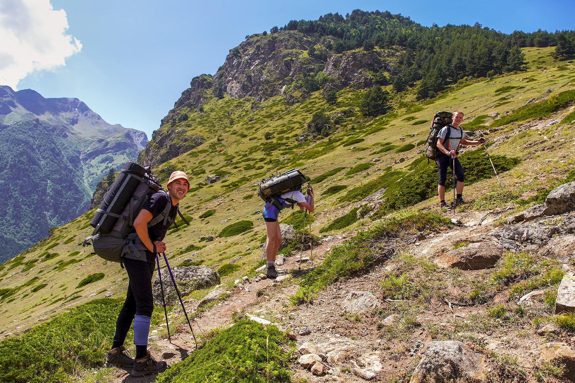 Wandern und Klettern in den Tiroler Alpen